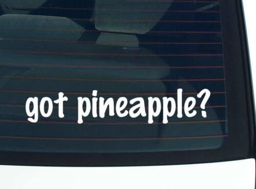 FOOD FUNNY CAR DECAL BUMPER STICKER WALL got pineapple