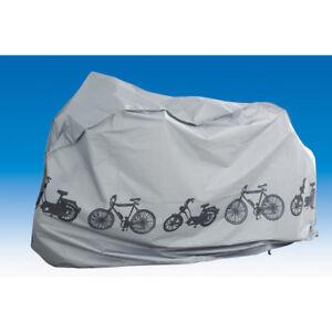 Fahrradgarage 110 x 200 cm silber Fahrradschutzhülle Mofa Roller Abdeckplane