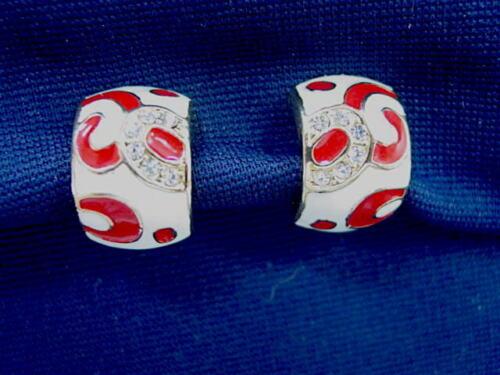 Mid-Century Modern Vintage Clip Earrings - Clear R