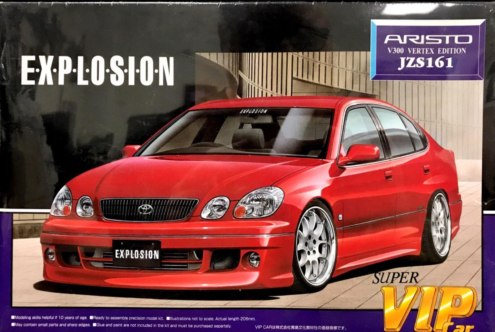Aoshima 1 24 Aristo V300 greenex Edition JZS161 Super VIP Car Model Kit 024669
