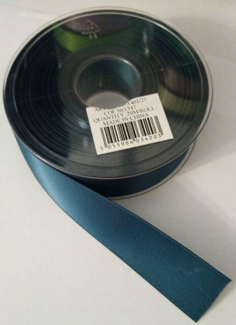 VA Double Sided Satin Ribbon 25mm width 50M length Various Colours