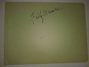 FRITZ WEAVER Creepshow Actor Signed Album Page 1956