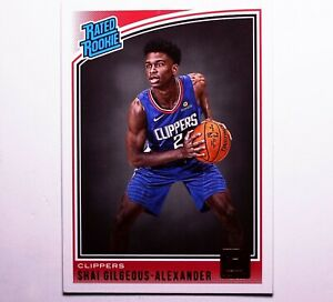 2018-SHAI-GILGEOUS-ALEXANDER-Clippers-Donruss-162-Rookie-Card-NM-MINT-PSA
