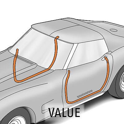 1969-1975 C3 Corvette Convertible Door Mains Weatherstrip PAIR