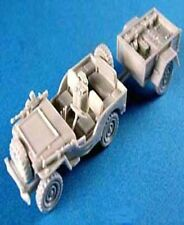 Milicast BB070MT 1/76 Resin WWII British Airborne Jeep wTowed 4.2 Mortar Stowed