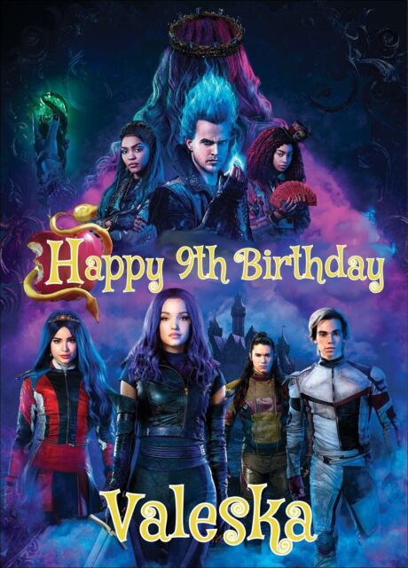 DESCENDANTS 3 Edible cake topper decoration sheet image ...