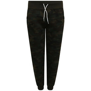 superior performance catch various design Details about New Women Ladies Camo Yoga Trouser Cropped Joggers Camouflage  Sweat Pant XS - L