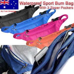 Sport Waist Bag Running Jogging Phone Pocket Fanny Pack Money Zip Pouch Bumbag