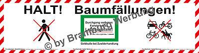 Waldarbeiten Gem.waldg Absperrbanner Für Fortbetriebe Baumfällung Holzrücker