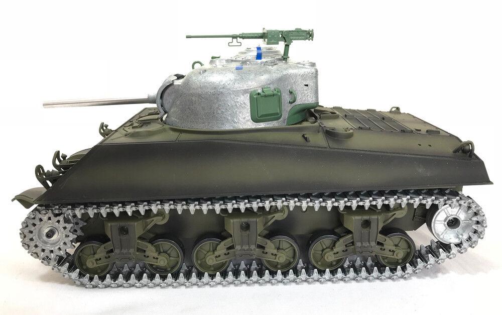 Heng lungo  Radio Telecouomodo Tank M4A3 Sheruomo con scafo in mettuttio 1 16 BB sparare  liquidazione