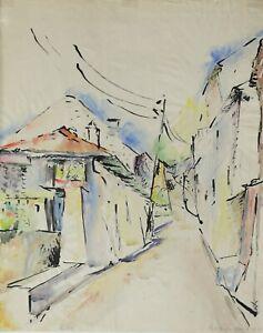 Henrietta-Moser-Xx-Cagnes-gopalpur-Watercolour-Cote-D-039-Azur-Nice-1926-Fauvism