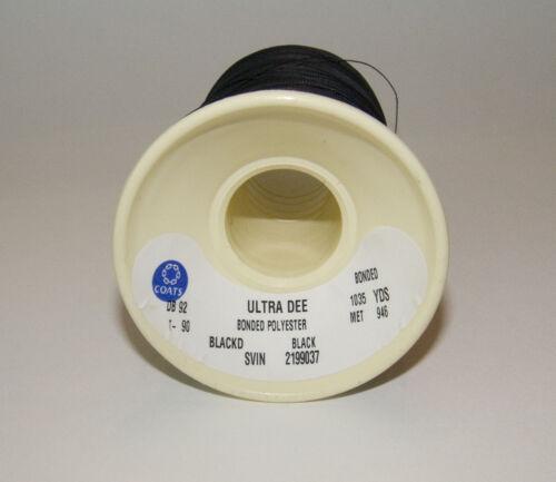 Thread-4 oz Coats Bonded Thread Spool Size DB-92 T-90 Polyester Black