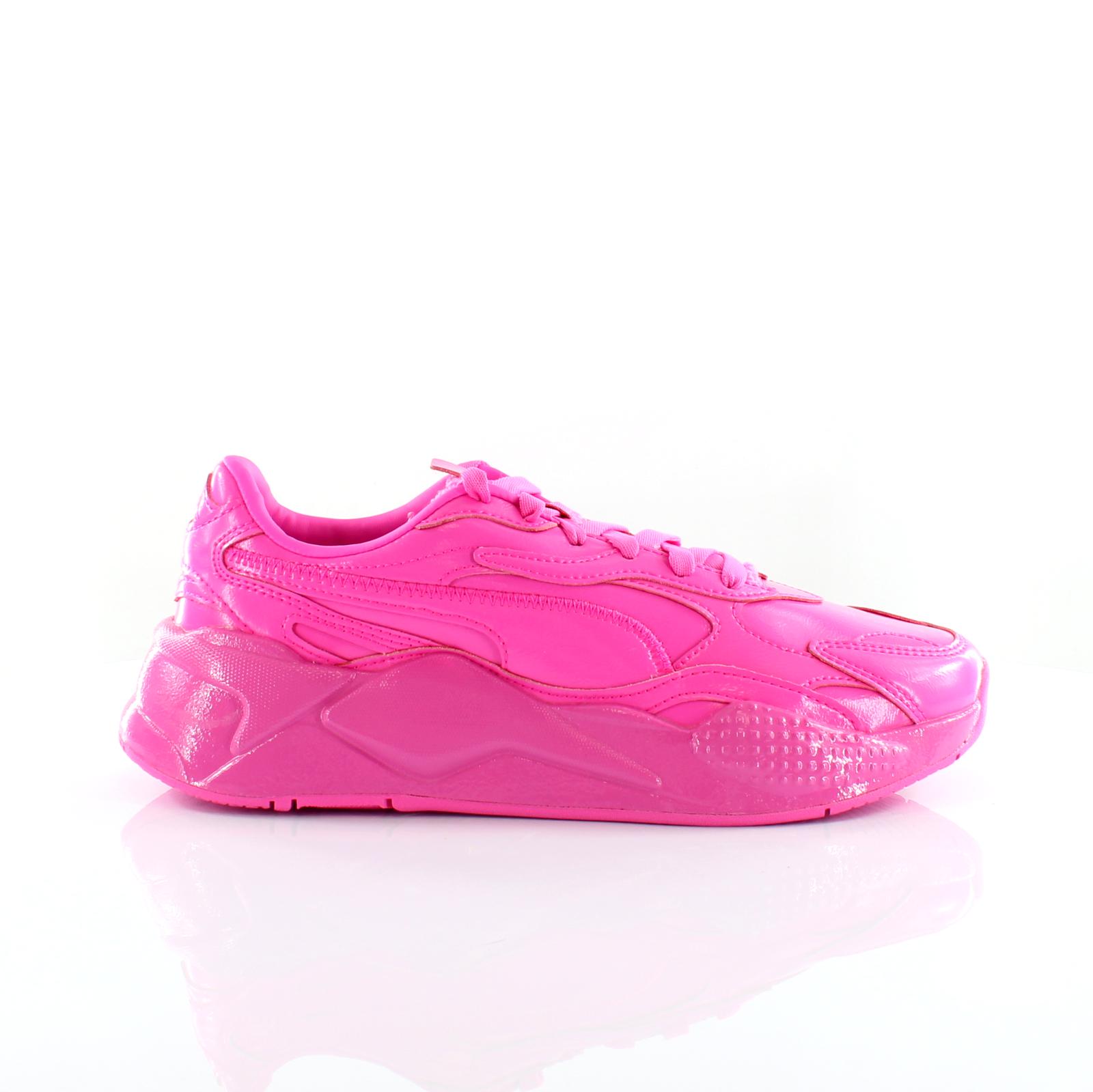 Puma RS-X3 PP rose vernies à lacets Femmes Formateurs 374135 01