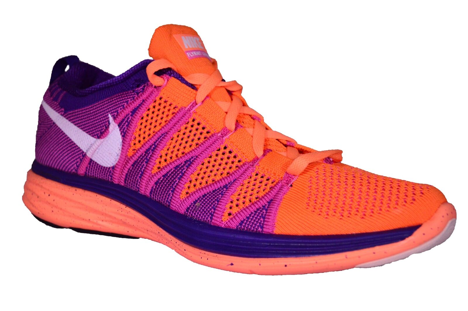 New NIKE Women's orange Flyknit Lunar 2 Running shoes Athletic Training Sneakers