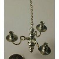 Dollhouse Miniature Hanging 3 Light Chandelier