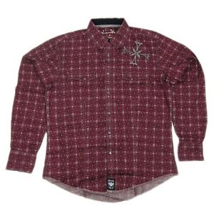 Mens-NWT-Wrangler-Rock-47-Western-Long-Sleeve-Shirt-MRC143M-Any-Size-M-L-XL