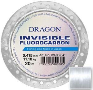 Fluorocarbone-Pesca-Linea-Leader-Dragon-Invisibile-Fatta-in-Giappone-Goccia