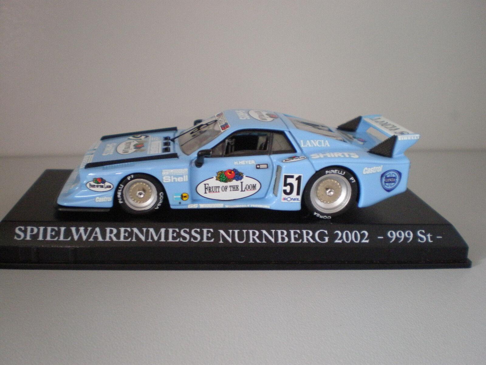Lancia Beta Fruit of the Loom Spielwarenmesse Nürnberg 2002   Model Best 1 43