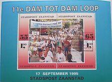 Stadspost Zaanstad - Blok 11e Dam tot Damloop 1995 Athletics gestempeld
