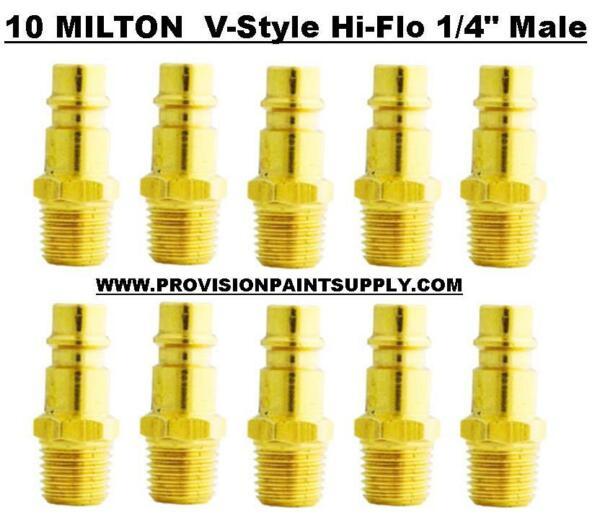 "Cordiale Milton 760 V-style 1/4"" High Flow Plug Male (10 Pieces) (milton-760) Fornitura Sufficiente"