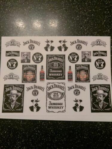 Jack Daniels Hot Wheels Matchbox clear water slide decals 1:64 MADE IN USA!!!