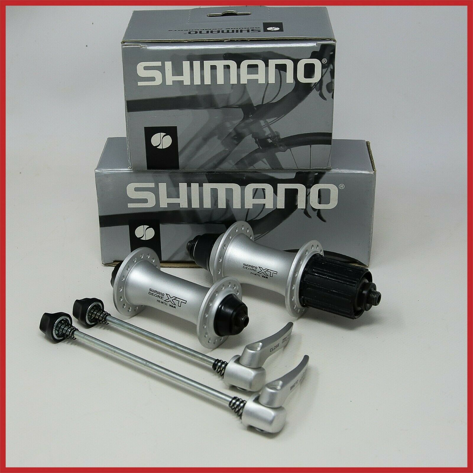 SHIMANO DEORE XT MTB HUBSET FH-M752 HB-M752 32H HOLES  9s SPEED HUBS 90s VINTAGE  promotional items