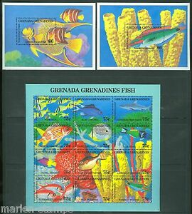 GRENADA-GRENADINES-FISH-SC-1690-93-MINT-NEVER-HINGED-AS-SHOWN