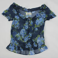 Abercrombie Kids Girls Floral Knit Top Size Small