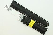 MORELLATO: Uhrenarmband 20mm weiches Kalbsleder Schwarz UVP 25€  -40%