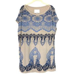 3-1-Phillip-Lim-Womens-Size-Small-Tunic-Shirt-Silk-Blend-Blouse-Blue-Tan-Top