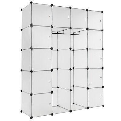 Estantería de plastico XXL modular armario 147x47x183 ropero organizador