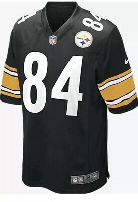 NIKE NFL PITTSBURGH STEELERS TOP PLAYER JERSEY 84 BROWN 819066-010 SIZE LARGE