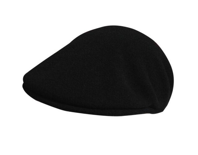 Kangol Wool 504 Flatcap Black Wool Hat Cap Pepe Kangolmuetze ... 80933bc49b96