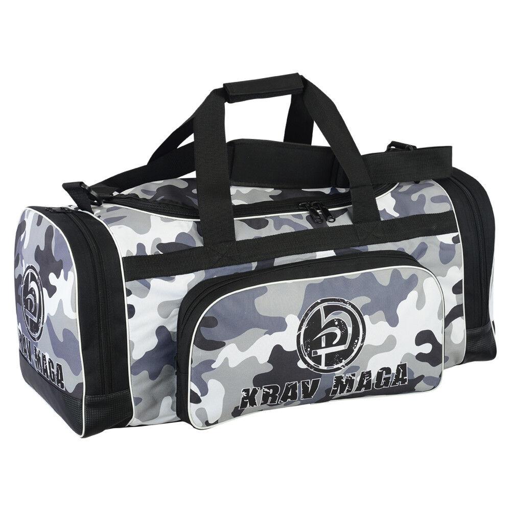 Krav Maga Sports Duffel Bag Black Gym Clothing Gear Martial Arts Kit Travel