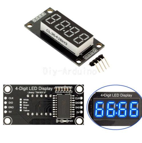 "0.56/""  Blue TM1637 4-Bits Digital LED Anzeige Clock Tube Display For Arduino"