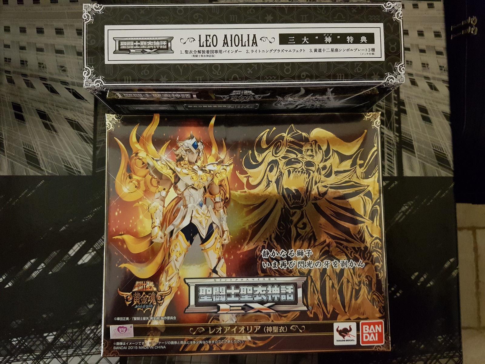 Myth Cloth EX LION AIOLIA Soul Of oro Bandai Original TAMASHI NEUF/ NEW + BONUS