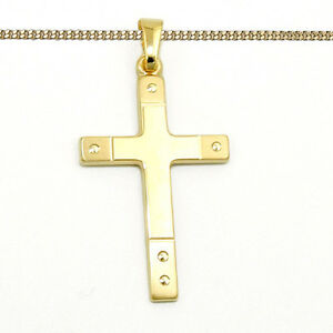 Kinder Kreuz Anhänger Echt Gold 333 Zur Taufe Kommunion Mit