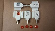 Five Solico 125v 1/3w Red Bulb Indicator Light with lens