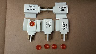 """0.5/"""" Face Solico 2V DC Panel Mount Green LED Indicator w// Wires for 3//8/"""" Hole"""