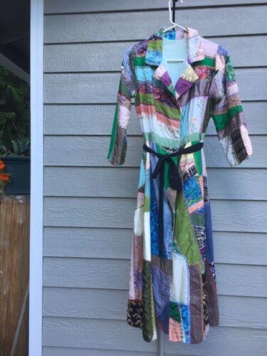 Antique Dress Vintage Crazy Quilt Coat Patchwork