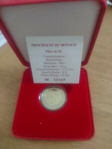 Coffret BU Argent 2 euros argent MONACO 2011 MARIAGE ALBERT ET CHARLENE