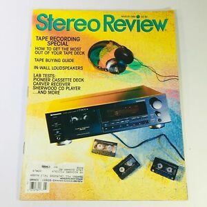 VTG Stereo Review Magazine March 1989 - Pioneer Cassette Deck & Carver Receiver