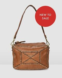 NEW Jo Mercer Campomaggi Monaco Shoulder Bag Cognac Leather Accessories