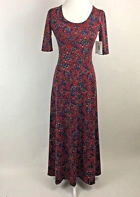 Womens Lularoe Quot Ana Quot Fit Amp Flare Maxi Dress Extra Small