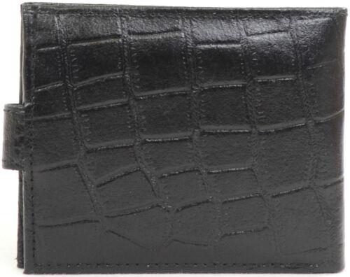 Herren Leder Krokodil Effekt Portemonnaie mit Mehreren Merkmale