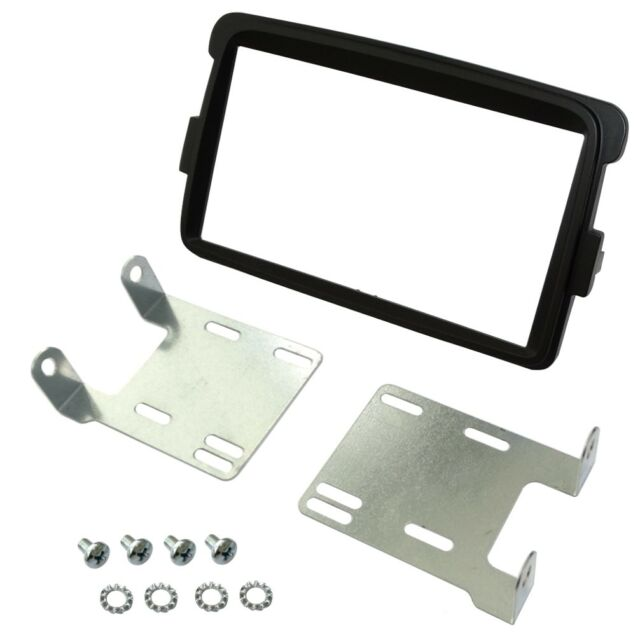 Façade cadre réducteur adaptateur gris autoradio 2DIN pour Opel Vivaro