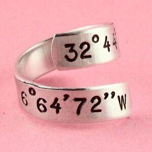 Custom-Latitude-Longitude-Coordinates-Twist-Ring-Adjustable-Hand-Stamped-Ring