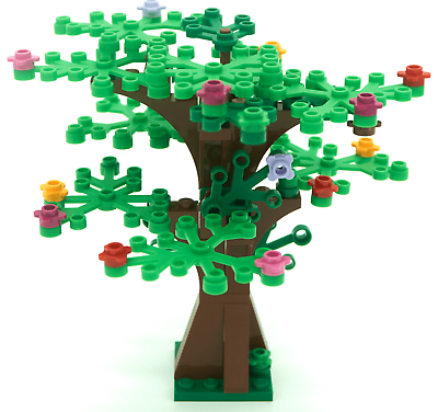 FREE shipping! LEGO custom tree with tall trunk /& 25 green leaves