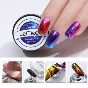 LEMOOC-5ml-Stamping-UV-Gellack-Soak-Off-Nagel-Folie-Transfer-Stickers-Werkzeug