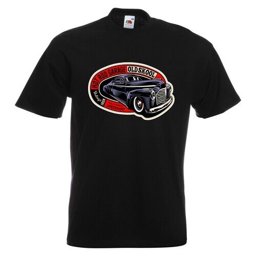 Old Skool Hotrod Mens PRINTED T-SHIRT Hot Rod Car School Vintage Classic Custom